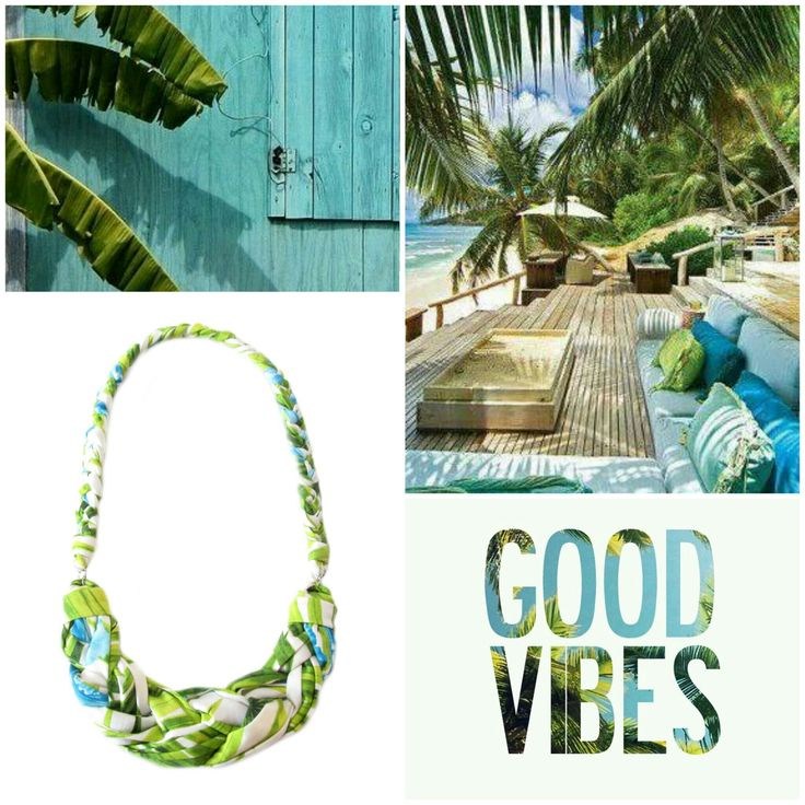 http://etsy.me/2a2RYT5 #recycleyourtshirt #fabric #necklace #moodboard #etsy #tropical #tropicalvibes #livefree #tropicalparadise #beachlife