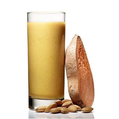 Juice and smoothie recipes, including...    Post-Workout Refueler: Oranges, almonds, sweet potato, apple