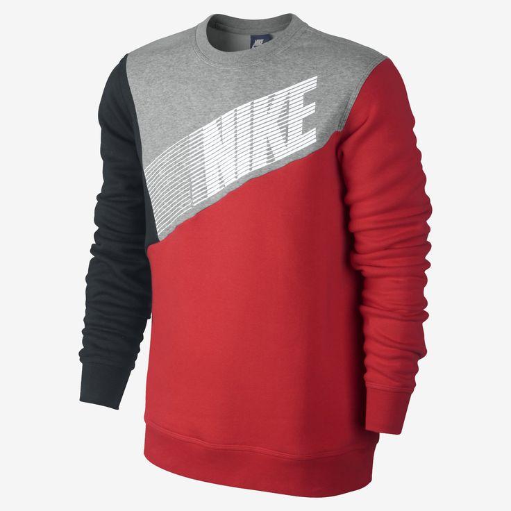 Nike Club Crew Color-Block Men's Sweatshirt. Nike Store