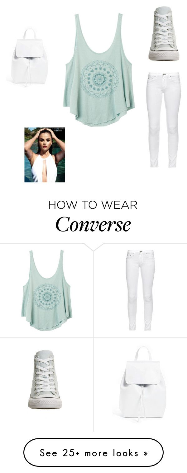 """In the water"" by fashionforward-822 on Polyvore featuring RVCA, rag & bone, Converse and Mansur Gavriel"