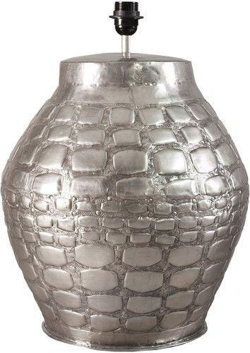Zilveren tafellamp met structuur | Nano Interieur #tafellamp #lamp #verlichting #nanointerieur