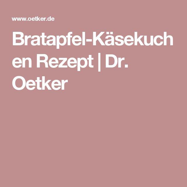 Bratapfel-Käsekuchen Rezept | Dr. Oetker