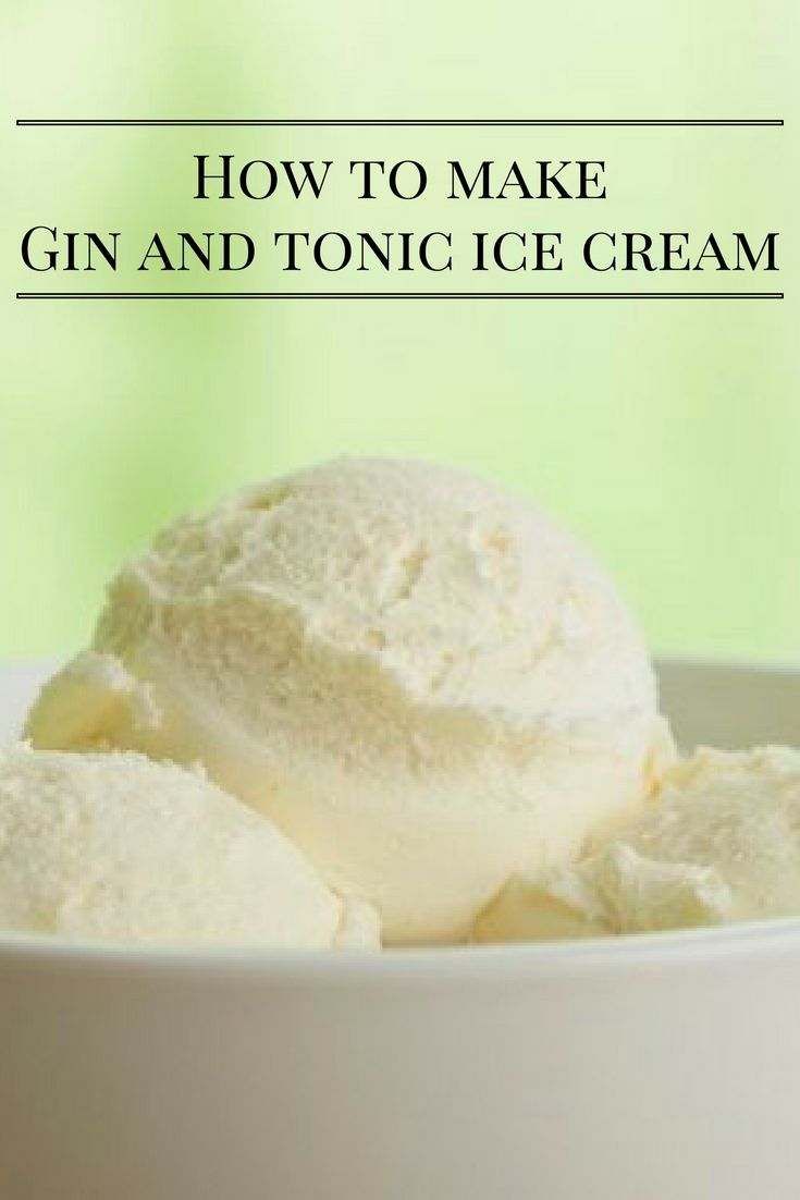 Courtesy of food blogger Hungry and Frozen, who created the easy 5-step recipe, this recipe requires just five ingredients: sugar, lemon juice, gin, tonic water and cream. Here's how to make your own gin and tonic ice cream.