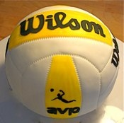 Wilson volleyball cake.