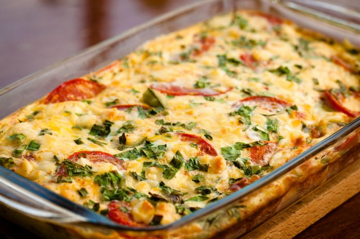 Make Your Morning Healthy and Delicious With This Yummy Breakfast Bake...zucchini, tomato, cannelloni beans, eggs