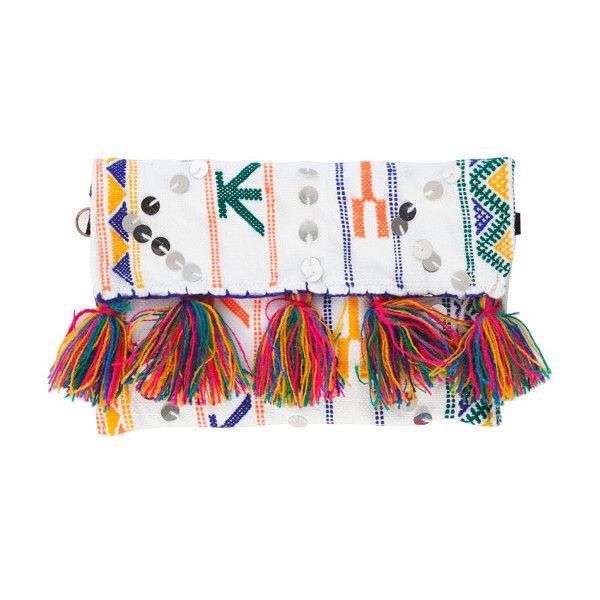 SOEUR DU MAROC Tamizart Clutch ($165) ❤ liked on Polyvore featuring bags, handbags, clutches, aztec, aztec print purse, aztec handbags, aztec purse and aztec print handbags