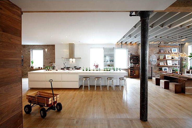 Modern rustic loft livingspace pinterest for Modern apartment loft