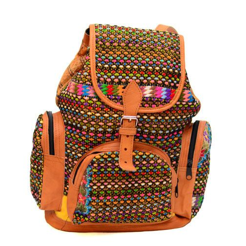 El Huipil Tribal Backpack - Confetti