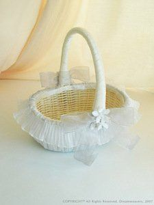 Rose Covered Flower Girl Basket,Buying Rose Covered Flower Girl ...