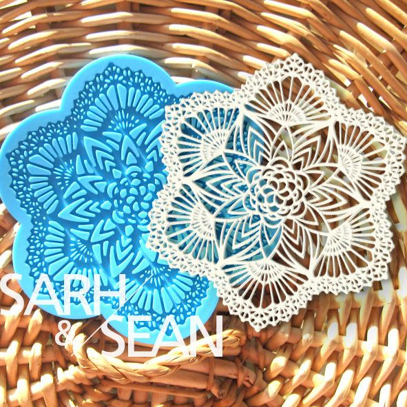 S&S L004 flower snowflake instant silicone lace mold cake mold baking tools kitchen accessories decorations for cakes Fondant $12.90