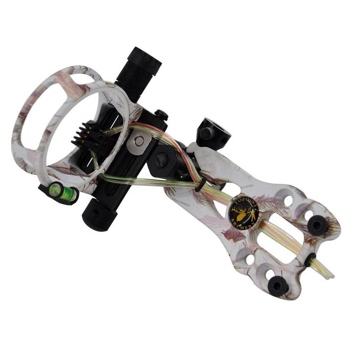 """5 Color Toppoint TP6550 Archery Hunting Compound Bow Sight 5 Pin Bow Sight 0.019"""",Micro Adjustable,Tool Less Design"""