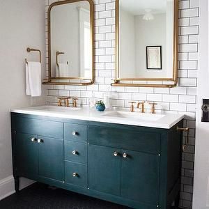 Astoria Mirror With Tray, Transitional, bathroom Love these mirrors!