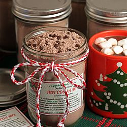 Double Chocolate Hot Cocoa Mix with downloadable gift jar tags. An easy mix that makes a rich, chocolaty, delicious mug of cocoa.