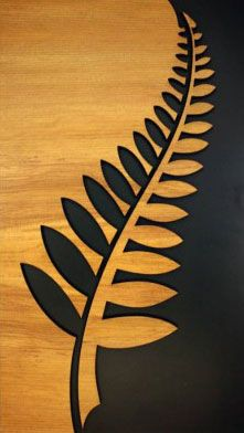 New Zealand Fern Leaf Wall Art. www.boneart.co.nz