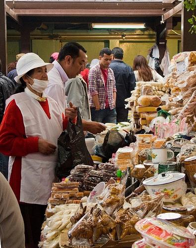 Vendedora de dulces, Plaza de dulces Boyaca Colombia. Sweets, market, colombian food