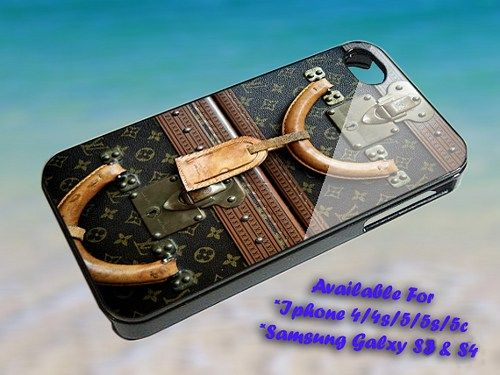 "Vintage Luggage Louis Vuitton Print on Hard Plastic For iPhone 5 Case, Black Case  This case is available for: iPhone 4/4S iPhone 5/5S iPhone 6 4.7"" screen Samsung Galaxy S4 Samsung Galaxy S5 iPod 4 i"