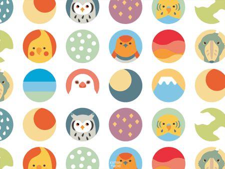 【小窓からことりたち】丸い小窓から見える風景と小鳥(+?)達。富士や空や雨、星等と、文鳥、オカメ、セキセイ、コマドリ、アフコノ、ハシビロ。 pic.twitter.com/seo0R2ledd