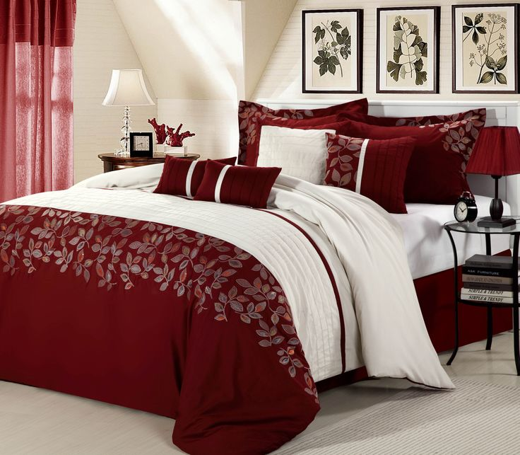 Look At This Red Montana Embroidered Comforter Set By Chic Home Design Part 80