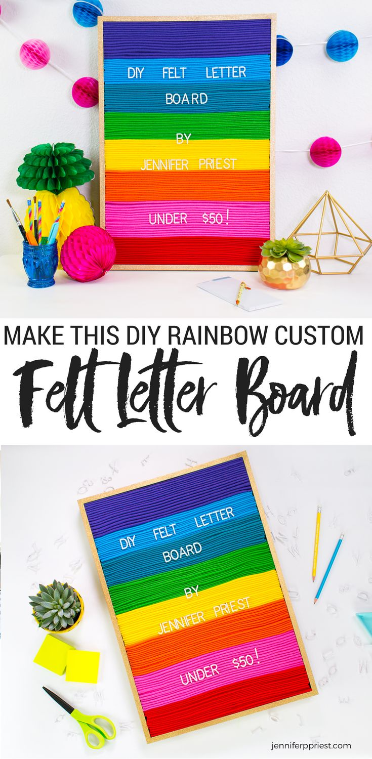 Diy felt letter board signs felt and how to make for Felt letter sign