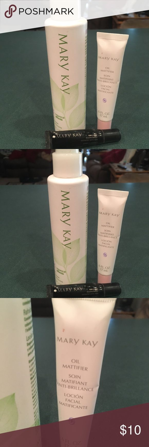 Mary K refresher, concealer and oil mattifier All there have been used. About half full. Mary Kay Makeup Concealer