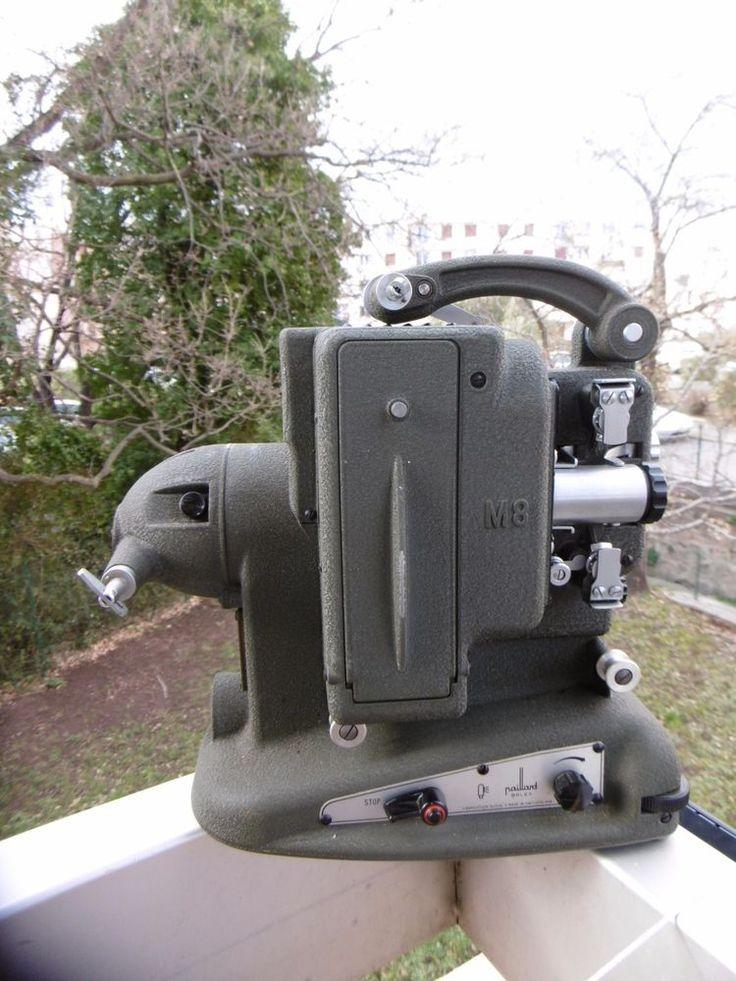 """Projecteur ancien de film""""M8 PAILLARD BOLEX FABRICATION SUISSE""""fonctionne à voir"""