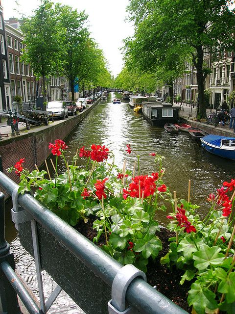 Amsterdam...I would love to live on one of the houseboats.