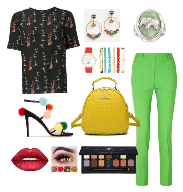 """""Let's go to the circus"" outfit 🐘🐻🦁🍿"" by caitlincherie on Polyvore featuring Etro, Victoria Beckham, Fendi, Dolce&Gabbana, Crown & Ivy, WithChic, Ross-Simons, Anastasia Beverly Hills and Dreamgirl"