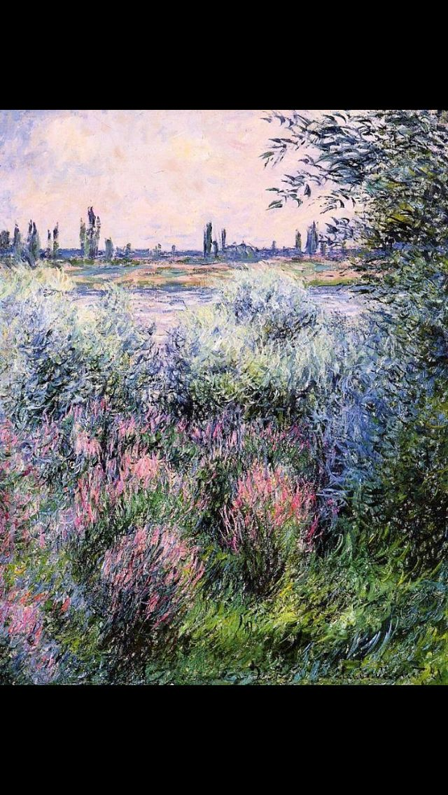 A Spot on the Banks of the Siene Claude Monet