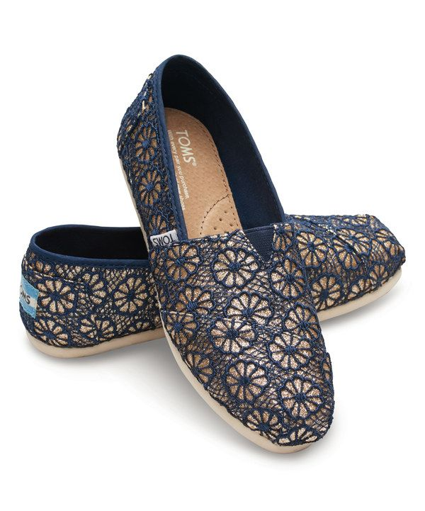 Love these Navy & Gold Glitter Crochet Classics on #zulily today!