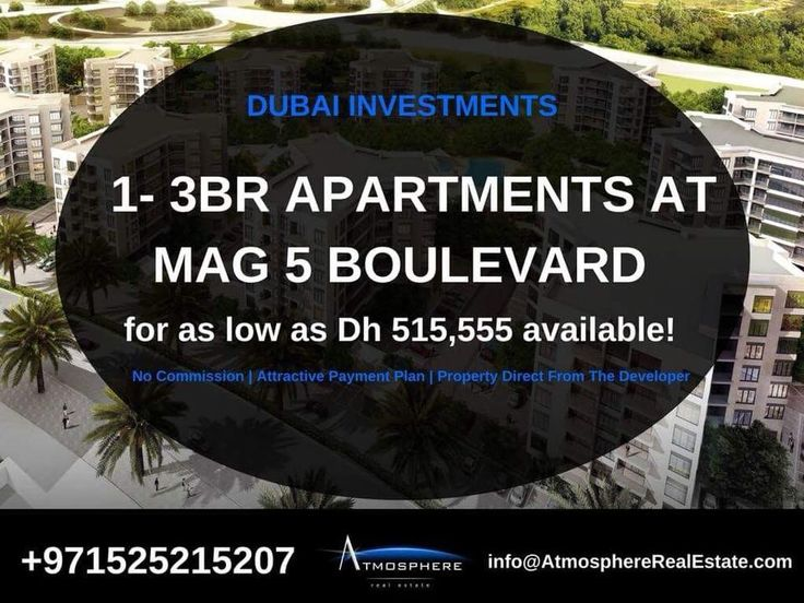 #FeaturedProperty 1-3 BR Apartments for as low as AED 515,555 available! Handover Date Q4 2018 .  MAG 5 Boulevard is located in Dubai South. Within easy reach of Al Maktoum International Airport -Adjacent to the Expo 2020 venue -Expansive landscaping with water lagoons & lakes -Multiple entry & exit routes -Urban walkable development.   Few Units Left. Call Carmen at +971525215207 or email info@AtmosphereRealEstate.com. .