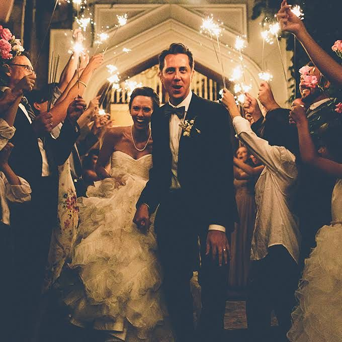 Creative Wedding Exit Photos
