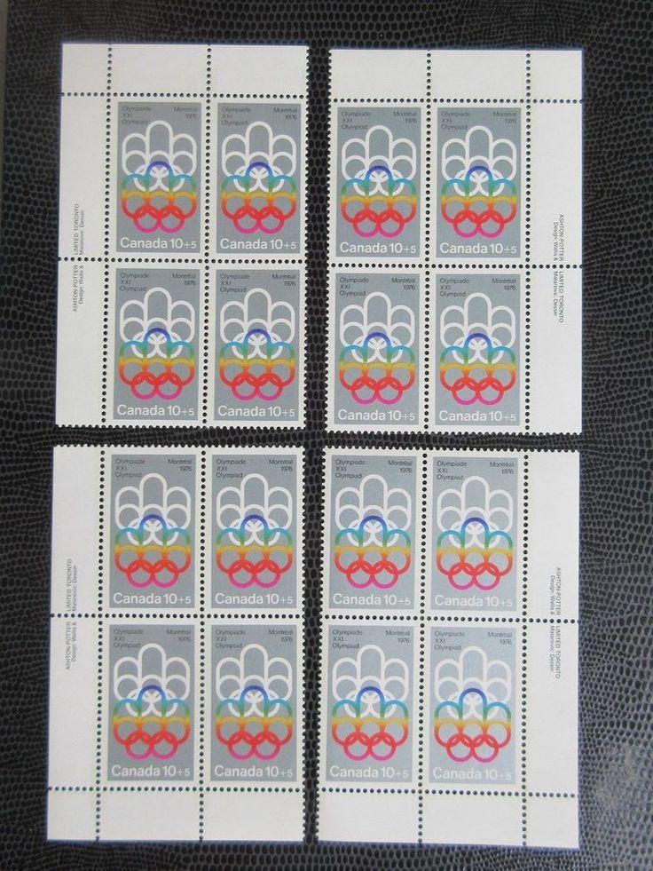# B2 corner block set Canada Olympic silver Cojo stamps MNH semi postal