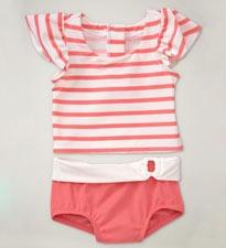 Striped Rashguard Set. Photo and item from Baby Gap.