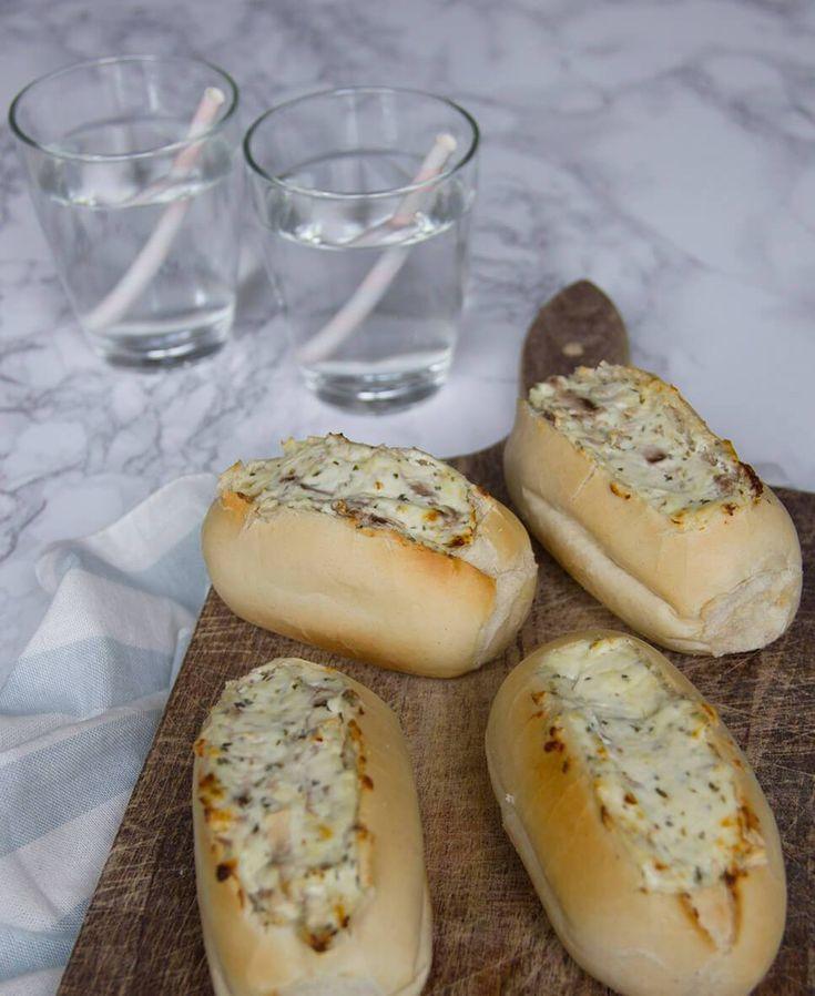 Romige champignon broodjes