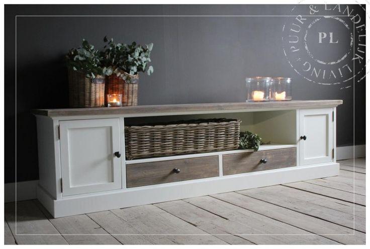 Maatwerk / tv meubel / tv dressoir / old wood / PRESENT | ☆ New Arrivals / Nieuwe collectie ☆ | Puur & Landelijk Living