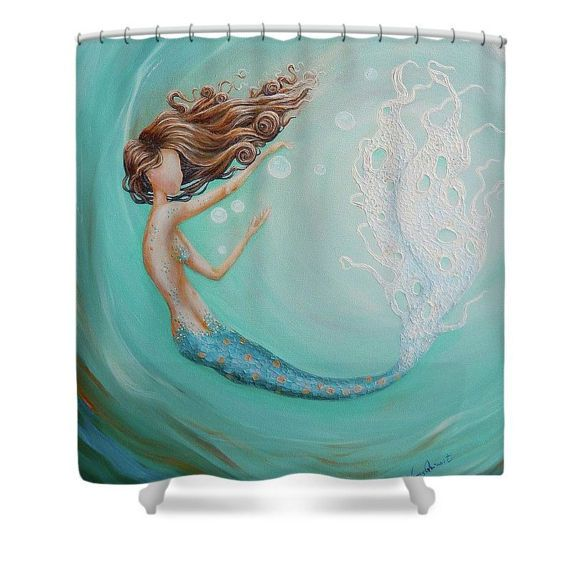 10 best ideas about mermaid shower curtain on pinterest mermaid bathroom decor mermaid - Little mermaid bathroom ideas ...