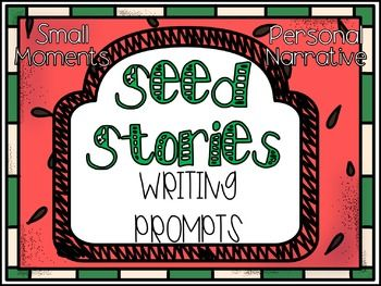 20 Writing prompts based on getting the writer to zoom in on small moments.Short writing prompts to help your students think in terms of small seed stores rather than larger watermelon topics. Students will have to imagine themselves in the situations.