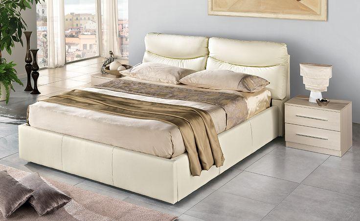 Con il letto Smile effetto champagne lo spazio non sarà più un problema grazie al pratico cassettone per riporre lenzuola e cuscini.