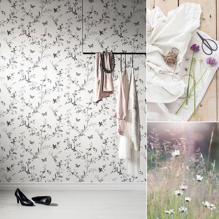 Tapet 5229-3 från kollektionen Blomstertiden. TAPETSTUDION, Nordic Wallpaper AB.