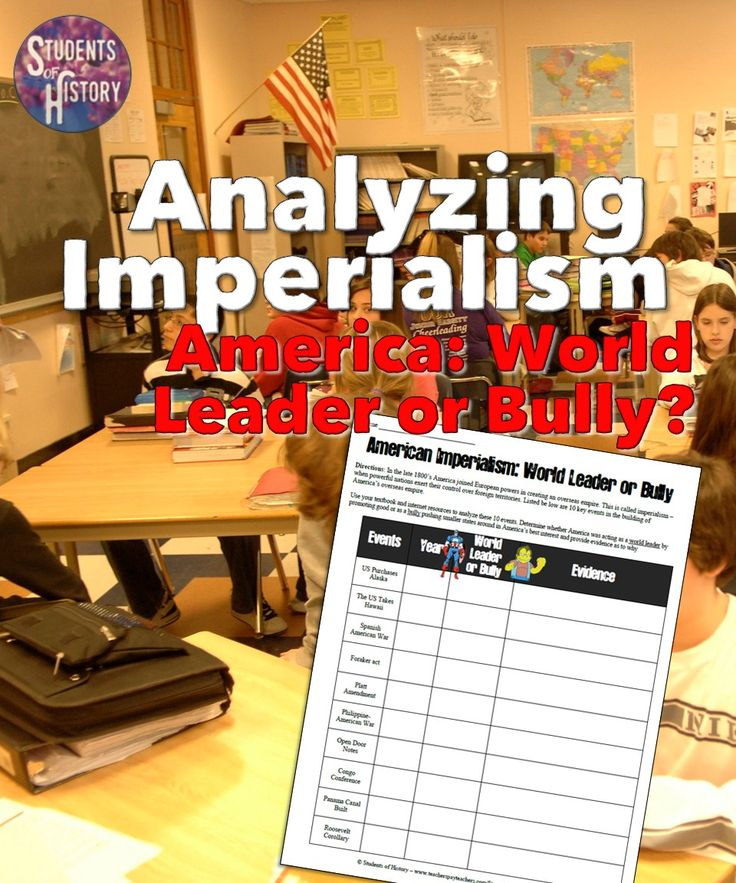 Imperialism classroom activity: Analyzing American Imperialism: World Leader or Bully?