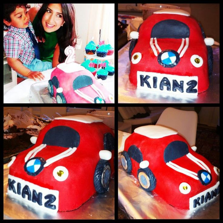 Birthday cake for my sweet niece. Made by: Sepideh Hatami  #car #mini #bmw #sugarpaste