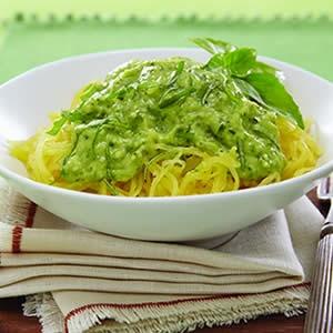 Spaghetti Squash w/ Avocado Pesto: Spaghetti Squash Avocado, Avocado Spaghetti Squash, Avocado Pesto, Healthy Eating, Spaghetti Squash And Avocado, Food Cooking Eat Yum, Healthy Recipes, Glutenfree, Pesto Spaghetti Squash