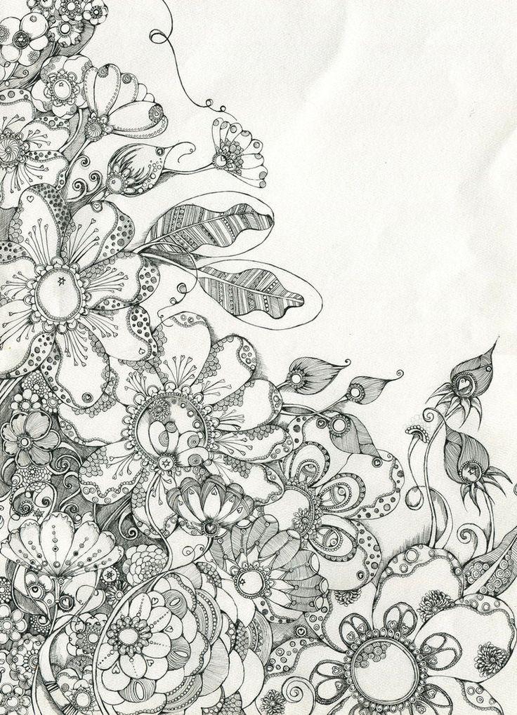 zen doodle coloring pages flower - photo#23