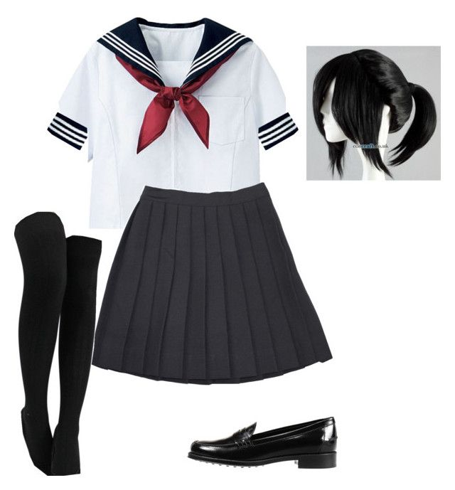 """Ayano Aishi (Yandere-Chan) ~ Yandere Simulator ~ Cosplay (Default Uniform)"" by electricbalancekilljoy ❤ liked on Polyvore featuring Tod's"