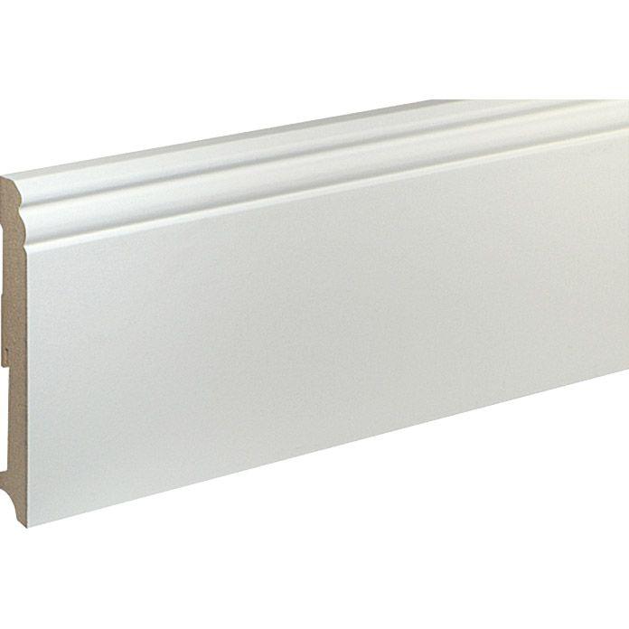 Sockelleiste Fu140l Weiss 2 4 M X 19 Mm X 140 Mm Grundiert In 2020 Sockelleisten Gaste Toilette Bauhaus