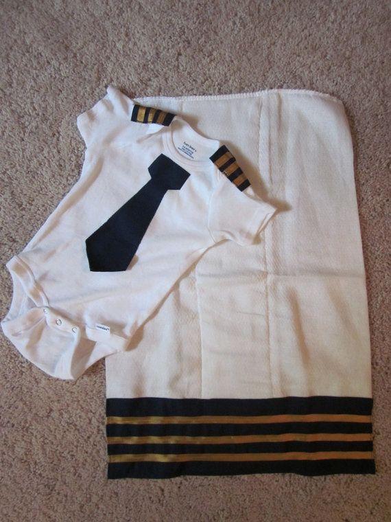 Pilot Onesie Amp Burp Cloth Set By Jenniferajames On Etsy