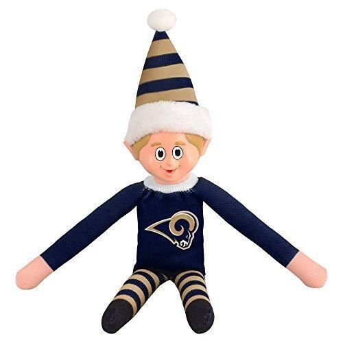 14 NFL Rams Team Elf Football Themed Team Color Logo Mens Collectible Toy Sweatshirt Santa Hat Man Cave Decoration Christmas Holiday Gift Fan Navy Whiye Blue Polyester