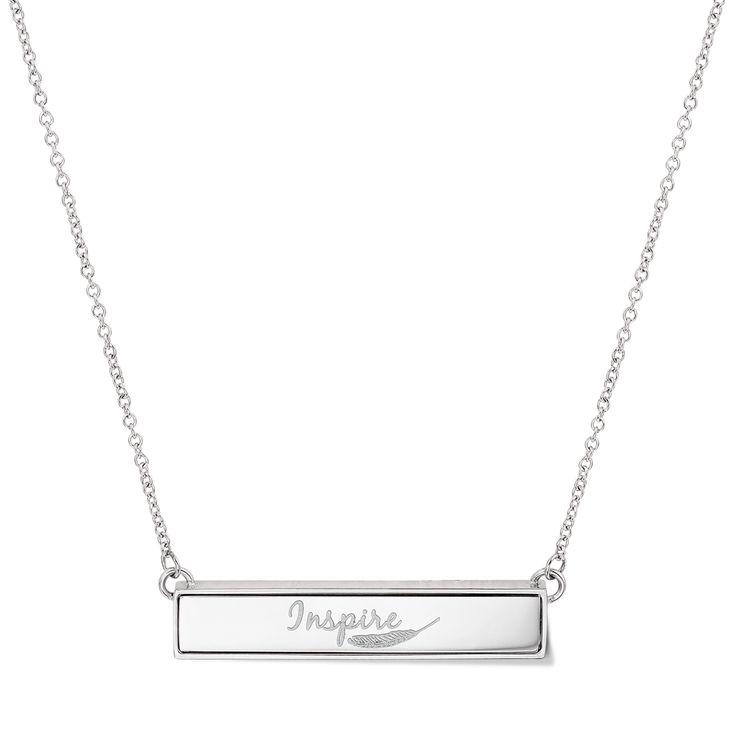 TWYN Bar Necklace Silver Tone