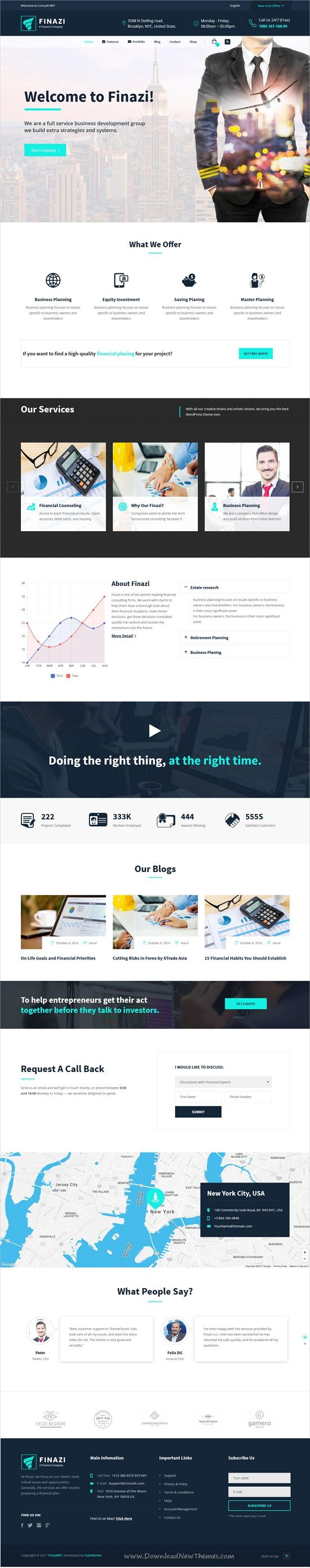 Finazi is a wonderful 8in1 responsive #WordPress theme for #webdev business and #finance websites download now➩ https://themeforest.net/item/finazi-business-finance-wordpress-theme/19174276?ref=Datasata