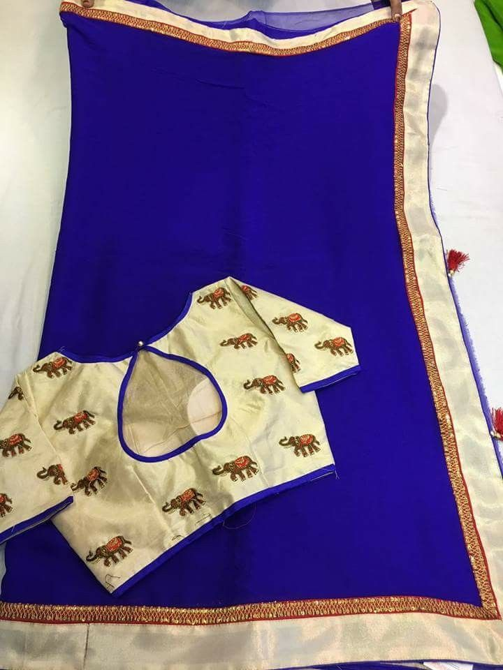 New desginer saree collection Blouses r semistiched, fittings has to b done as per requirement. Order what's app 917995736811